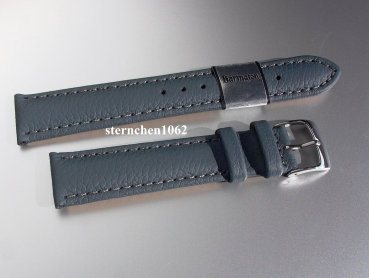 Barington * Lederband für Uhren * Uhrenarmband * Fancy * denim * 22 mm