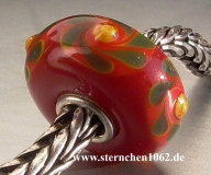 Trollbeads * Rote Weihnacht * Rot 4.3