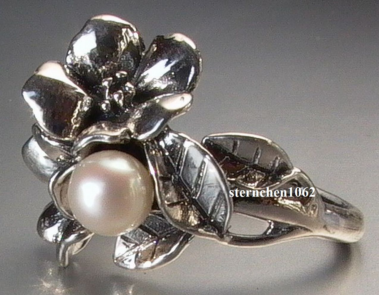 Sternchen 1062 - Trollbeads Ring   Hawthorn With Pearl   b4ca587dcf0d